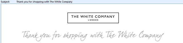 White_Company_thank_you_order_confirmation_email